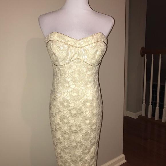 Shoshanna Dresses & Skirts - Shoshanna Gold Dress